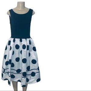 Dress V Fashion Polka Dot Dress Size Medium